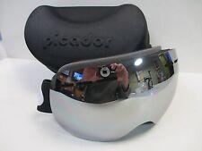 Picador Snowmobile Snowboard Skate Ski Goggles for Adult Mirror Lens Black Strap