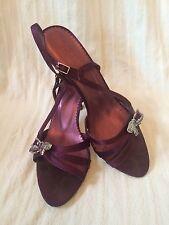 Principles Size 6 Purple Sling Back Shoes With Diamanté Bow  Boxed RRP £55