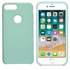 Funda silicona iphone 7 agujero logo textura suave  Verde claro