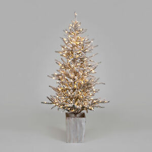 190cm Norwegian Woods Potted Flocked Tree With 350 Warm White LEDS