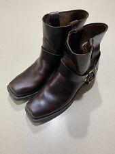 """Vintage Durango 7"""" Square Toe Leather Boots Mens 13D"""
