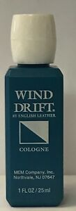 6 ENGLISH LEATHER WIND DRIFT by Dana COLOGNE 1 OZ (PLASTIC TRAVEL SIZE)