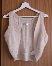(size 38) Topshop, Beige Wool Vest