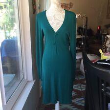BCBG Maxazria Teal Maxi Sweater Dress M/L