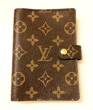 100% Authentic LOUIS VUITTON Agenda PM Notebook cover Monogram R20005