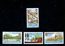 LOT 80829 USED 341 - 344  CENTRAL AFRICA STAMPS ; captain cook
