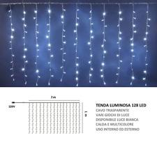 Tenda luminosa 128 led 2x1 mt  per Natale addobbo serie di luci natalizie festa