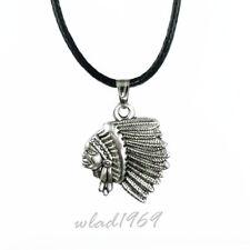 ❤️ Halskette mit Anhänger INDIANER, necklace pendant Indigenous people, silber