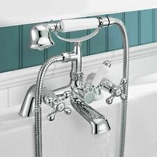 Traditional Victorian Bath Filler Shower Mixer Tap with Handset Bathroom Tap