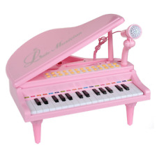 31 Keys Little Pink Piano for Girls with Microphone Electronic Organ Music Kids
