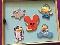 Disney D23 Expo 2019 Popcorn Buckets Pin Mickey R2D2 LGM Cinderella Dumbo LE 150