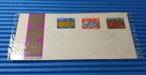 1972 Singapore First Day Cover Singapore Coin Series Commemorative Stamp Issue