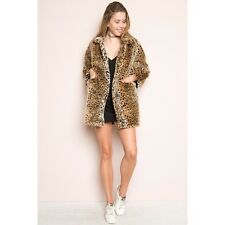 Last One! Brandy Melville faux leopard Cheetah mica fur coat NWOT + free gifts