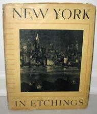 Anton Schutz New York in Etchings Numbered Limited HC DJ 1st ED Gravure