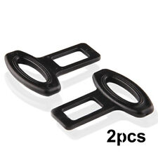 2Pcs Clasp Plug Car Auto Seat Belt Extender Safe Buckle Clips Alarm Stopper Set