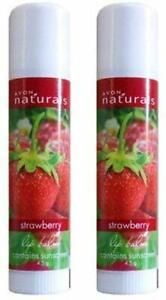 Avon Strawberry Lip Balm (Set of 2) Free Ship