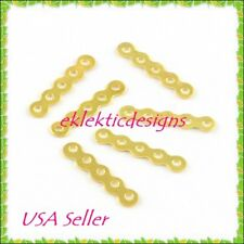 50pcs 5 Hole Wave Gold Plated Spacers Bars Jewelry Findings Earrings Necklace