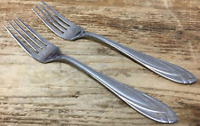 Lace Frosted Hampton Silversmiths Stainless 2 Salad Forks 18/0 220923 Filmy