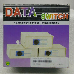 Data Transfer ABCD Switch Manual DS25-4 Connections NEW IN BOX