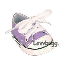 "Lavender Purple Sneakers Shoes for 18"" American Girl Doll Clothes Best Selection"