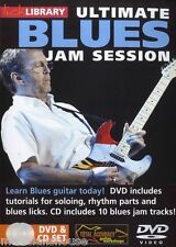 LICK LIBRARY ULTIMATE BLUES JAM SESSION 1 Learn to Play Solo Tracks GUITAR DVD