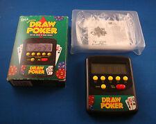 WACO DRAW POKER ELECTRONIC HANDHELD CASINO LCD POCKET TOY GAME W/ BOX SMALL