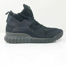 Adidas Mens Tubular X PK S80132 Black Running Shoes Lace Up High Top Size 10.5