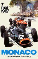 F1 GP Monaco 1967 Retro Art Glossy Print 8x10 Formula 1 Grand Prix Hologram