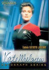 STAR TREK VOYAGER PROFILES AUTOGRAPH CARD A1 KATE MULGREW AS JANEWAY
