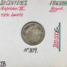 20 CENTIMES NAPOLEON III - 1868BB - Pièce de monnaie en Argent // TB