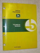 1988 JOHN DEERE HORICON LAWN GARDEN TRACTOR ATTACHMENTS TECHNICAL SERVICE MANUAL