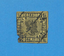 BERGEDORF Germany - scott  3 - used -- corner loss at lower left
