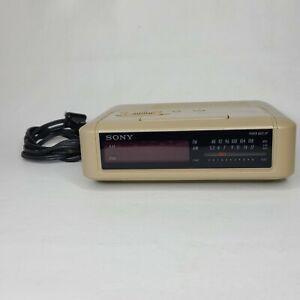 Vintage Sony Dream Machine Digital AM/FM Clock Radio W/Dream Bar ICF-C240 TESTED