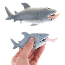 Soft Simulation Animal Shark Eating A Man Mini Doll Squeeze Decompression Toy TR