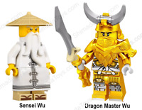 LEGO Ninjago Dragon Master Sensei Wu Young Old Hunted Minifigure NEW Mini Figure