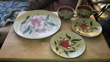 5 STANGL Pottery MAGNOLIA pieces: dinner plate, 2 bread/butter, 2 cups USA