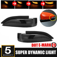 Smoked LED Dynamic Turn Signal Light Mirror Indicator for Toyota Camry Corolla @