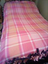 """Double Fleece Blanket, Handmade 77"""" X 5 2"""""""