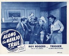 ROY ROGERS TRIGGER ALONG THE NAVAJO TRAIL ORIG RE1954 11X14 LOBBY CARD   #1411