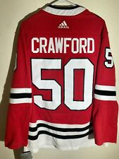 ADIDAS NHL AUTHENTIC ADIZERO JERSEY CHICAGO BLACKHAWKS COREY CRAWFORD RED sz 54