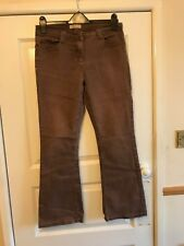 "Ladies Chocolate Brown Jeans - Wide Leg - BHS - 32"" W - 29"" L - VGC"