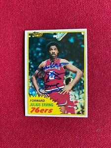 """1981-82, Julius """"Dr.J."""" Erving, """"Autographed"""" (JSA) TOPPS Card (Scarce/Vintage)"""