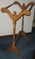 """Vintage Solid Wood Free Standing Quilt Display Rack 30 1/2"""" Wide"""