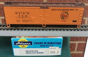 Athearn Branchline special run  Sioux City Dressed Beef 40' Steel Reefer SUCX134