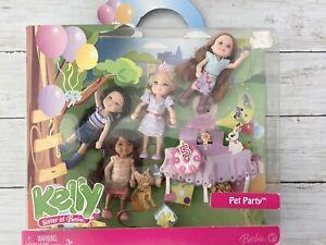 Barbie KELLY Lot of 4 Pet Party Kayla Kenzi Miranda Mattel Set