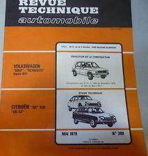 NEUF ! Revue technique CITROEN GS 1130 GS X3 RTA 389 1979 + VW GOLF SCIROCCO