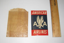Old American Airlines Baggage Sticker Decal T-127C In Bag