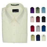 Donatelli Men's Dress Shirt | Classic Fit Point Collar Poplin | 14 colors