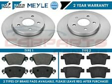 FOR FORD MONDEO MK3 2000-2007 REAR MEYLE PD PLATINUM BRAKE DISCS & PADS 280mm