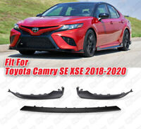 For 2018 2019 2020 Toyota Camry SE XSE Front Bumper Lower Molding Trim Canards